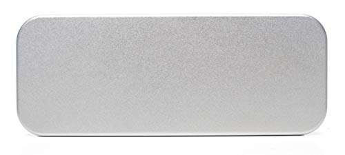 Platinum, Tin, Eco-Friendly, Mini Pencil Box. Use As Pencil, Makeup, Jewelry, Gift, Candy, Favor or Birthday Gift Box