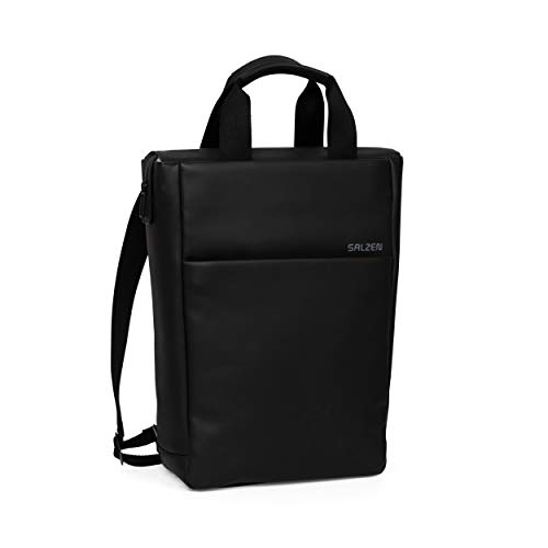 SALZEN Freelict Fabric Rucksack 39 cm total black leather