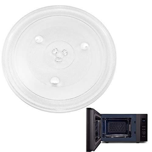 Mikrowelle runder Drehteller, Mikrowelle Glasplatte,Teller Glasdrehteller,Glasteller Drehteller Ersatz Teller, Robuster Mikrowellen-Drehteller,Universeller Mikrowellen-Drehteller Transparent