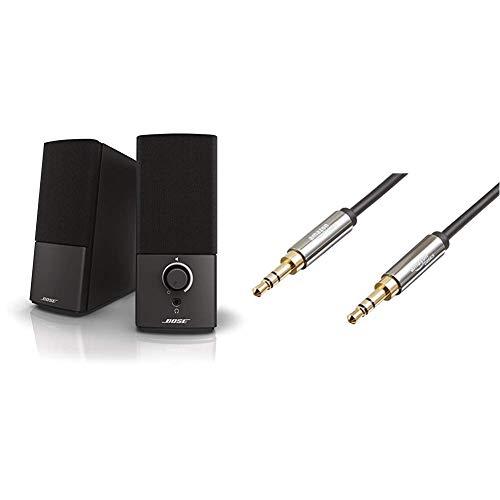 Bose ® Companion 2 Serie III Multimedia Lautsprechersystem schwarz & AmazonBasics Aux-Kabel, Stereo-Audiokabel, 3,5mm-Klinkenstecker auf 3,5mm-Klinkenstecker, 1,2m