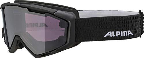 ALPINA PANOMA MAG. Skibrille, Unisex– Erwachsene, black matt, one size