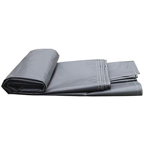 KXBYMX Bâche de haute résistance épaisse PVC pluie protection contre le soleil camion hangar chiffon tente extérieure, gris foncé Bâche imperméable de haute qualité