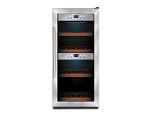 Profi Weinkühlschrank, 24 Flaschen, 3-22° C , 2 getrennte Temperaturzonen, GGG WK645