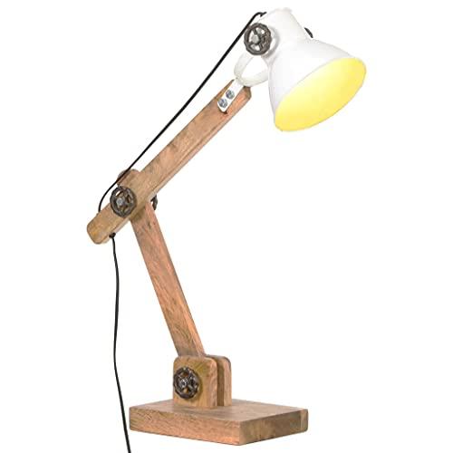 Bureaulamp industrieel rond E27 58x18x90 cm wit Lampen Totale afmetingen: 58 x 18 x 45-90 cm (B x D x H)
