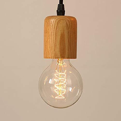 Mengjay Lámpara De Techo Nórdica Lámpara De Techo De Madera Lámpara De Cuerda E27 Moderna Lámpara De Dormitorio De La Sala De Niños Simple Sala De Estar Lámpara(Excluyendo bombilla) Tipo C