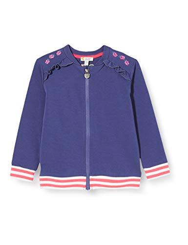 Steiff Mädchen Sweatjacke Sweatshirt, DEEP Cobalt, 122