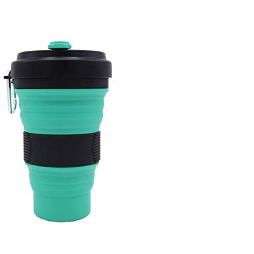 BECCYYLY Taza de café plegable del silicón, botella del apretón, taza portátil del agua