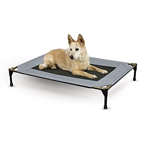 K&H Mascotas Catre elevado original para mascotas, cama para perros y gatos, Grande