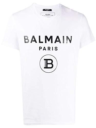 Luxury Fashion   Balmain Heren TH01601I315GAB Wit Katoen T-shirts   Lente-zomer 20