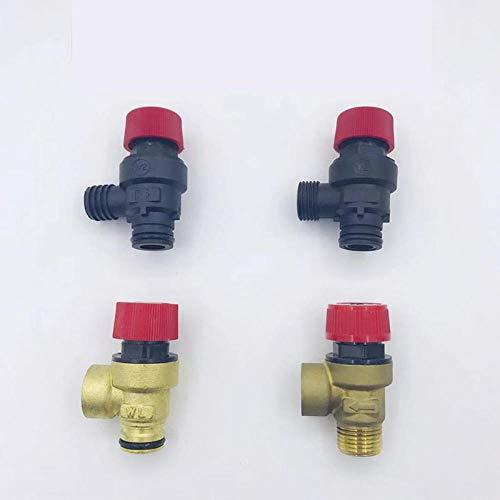 HEHUANG Válvula de seguridad de calentador de agua de triángulo dividido de 1 pieza para válvulas de seguridad y alivio de presión de la caldera de gas de aire acondicionado central, No.2