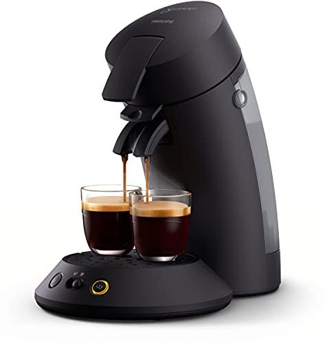 Philips Senseo Original Plus CSA210/60 ekspres do kawy na saszetki (wybór mocy kawy Plus, technologia Coffee Boost, wykonany z plastiku pochodzącego z recyklingu), czarny
