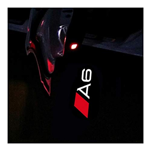 Happy Shop Autotür Willkommen Licht 2PC-Auto-LED-Tür-Warnlicht Willkommen Logo-Projektor kompatibel mit Audi A4...