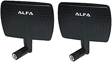Alfa 2.4HGz WiFi Antenna - 7dBi RP-SMA Panel Screw-On Swivel for Netwrok Adaptors - Also Works for 3DR Solo Drone, DJI Phantom 3 Drone, Yuneec Typhoon H ST16 Controller, adds Range