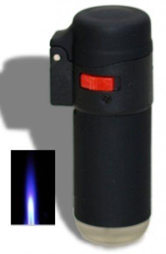 Coney Briquet grande cuve noir avec verrou flamme coupe-vent rechargeable et multi usage