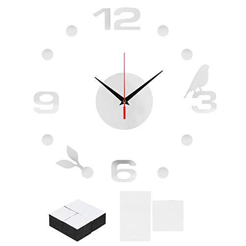 Pelnotac Papel pintado autoadhesivo de PVC, para decoración de reloj de pared, para sala de estar, sofá, pegatinas de fondo de TV
