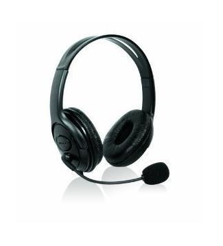 Invero negro Xbox 360S Slim Elite grande estéreo auriculares auriculares auriculares con micrófono