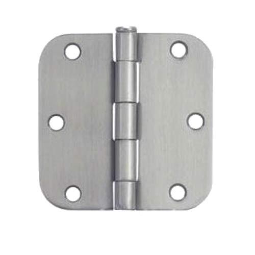 3 Pack - Cosmas Satin Nickel Door Hinge 3.5' Inch x 3.5' Inch with 5/8' Inch Radius Corners - 37557