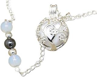 Bola de Grossesse Personnalisable Arbre de Vie et Descente de Perles Opalites Hématite Cadeau Future Maman de Grossesse F ...