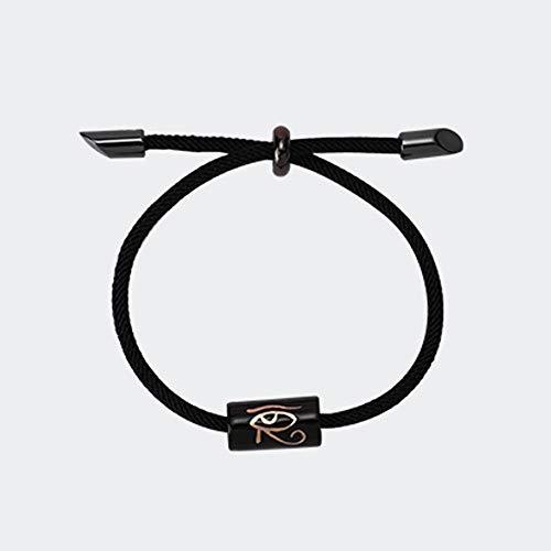 Eye Of Horus Bracelet Ceramic Bracelet Creative Simple Gift For Girlfriend Birthday Fashionable, Skin-friendly And Delicate (Color : Black)
