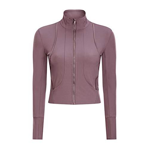 LDDOTR Women's Activewear Sports Jackets Damen Trainingsjacke Mit Durchgehendem Reißverschluss Daumenlöcher Slim Fit Damen Trainingsjacken,D,L