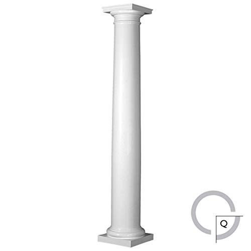 Endura-Stone Round Tapered Column (FRP), Smooth Paint-Grade, Tuscan Capital & Base, 8