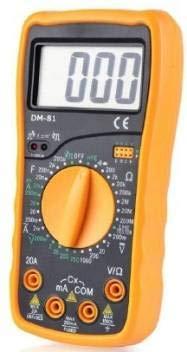 Htc Instrument Dm-81 3½ Digital Multimeter Capacitance Diode Transistor And Live Tester - Pack Of 1