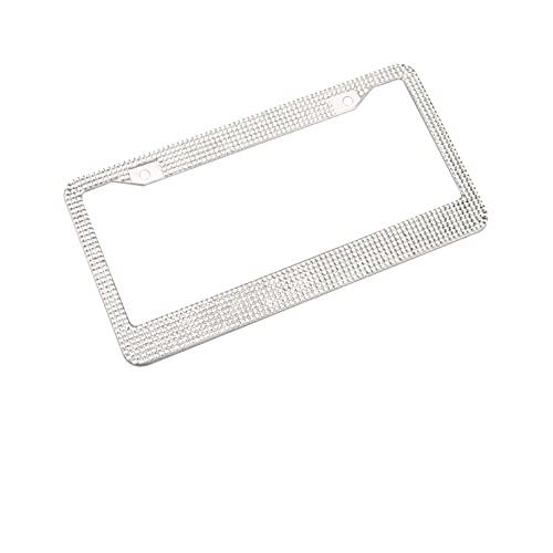 Marco de matrícula de diamante de modificación de coche Marco de aleación de aluminio seguro e impermeable fuerte adhesión marco de coche