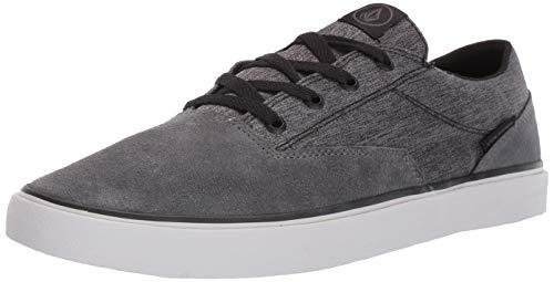 Volcom Men's Draw LO Suede Shoe Skate, Grey, 12 D US