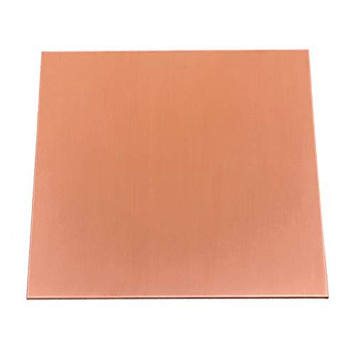 Dumadf 99,9% puur koperen Cu plaat, met corrosiebestendigheid voor industriële gereedschappen, dikte 1,2 mm, 200x200mm
