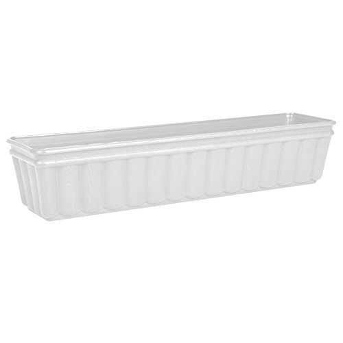 Emsa 959751200 Balcone - Jardinera (75 cm), color blanco