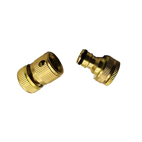 Jjzhb PYunLi-Accesorios de tubería de latón 1 Set, la Manguera de Conectores for Sistemas de riego, Grifo de Cobre Lavadora Pistola de Agua de Inserción, Accesorios de Manguera de Agua