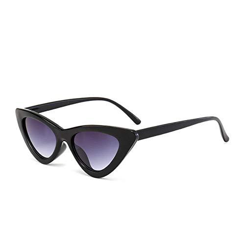 SAGIUSDM Sonnenbrillen Damenmode Triangle Small Size Brillen Reb Blue Green Lens Sonnenbrille, Blackdoublegray