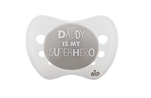 Nip Chupete Daddy is my Superhero, silicona, 0–6meses…
