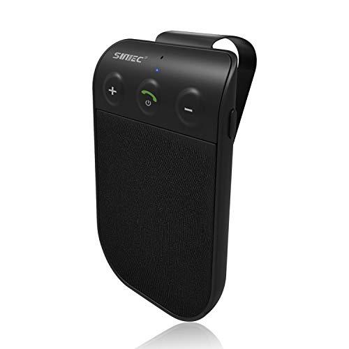 SUNITEC Hands Free Bluetooth Car Phone Kit - Bluetooth Car Speaker AUTO Power ON Support Siri Google Assistant Voice Guidance Wireless Car Bluetooth Receiver Hands Free Speakerphone