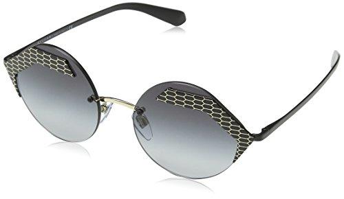 Bulgari 0Bv6089 20288G 55 Gafas de sol, Negro (Black/Grey), Unisex-Adulto