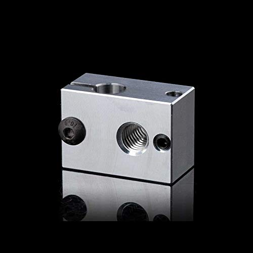 IU3D Precision Aluminum V6 Heater Block with Silicone Sock for V6 Hotend for PT100 Sensor/Cartridge Sensor. (5PCS)
