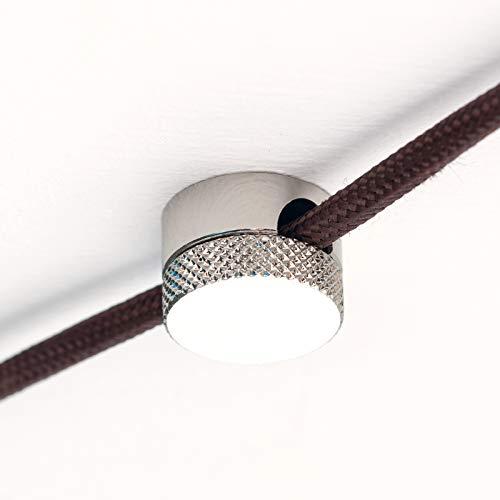 Distanzhalter Aufputz Kabelhalter aus Messing Kabelaufhängung für Textilkabel (nickel)