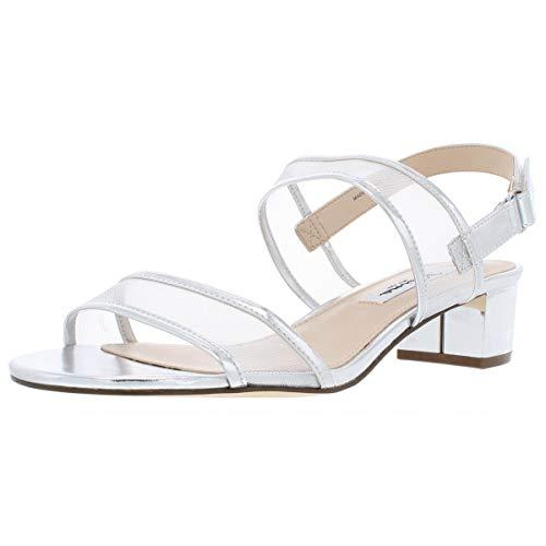 NINA womens Ganice Dress Sandal, Ym-b- Silver, 5.5 US
