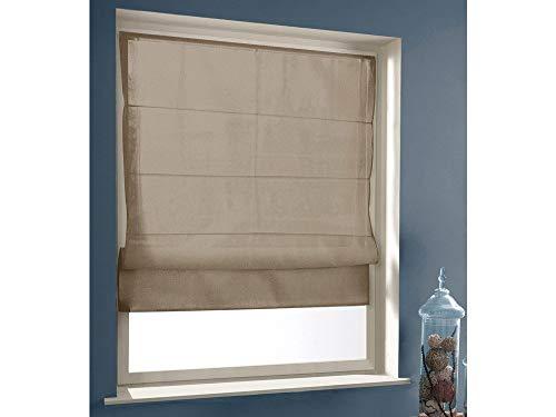 Vouwgordijn, lichtdoorlatend, om te schroeven, taupe, 60 x 180 cm