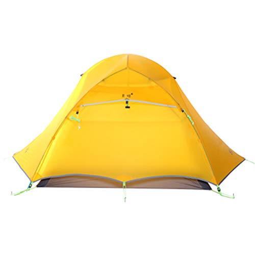 FTW Carpas Turísticas para 2 Personas Camping Ultraligero Al Aire Libre Carpas Profesionales De 4 Estaciones (Color : Yellow)