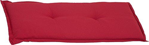 Beo Bankauflage 2-Sitzer Sitzkissen ca. 100x45x6 cm rot meliert