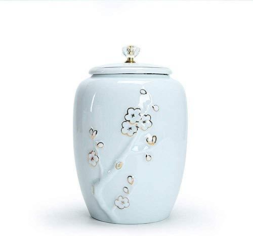 YZJL Cerámica funeraria urna de cremación urna for Personas y Mascotas Cenizas del Recuerdo la cremación urnas (Size : Style a)