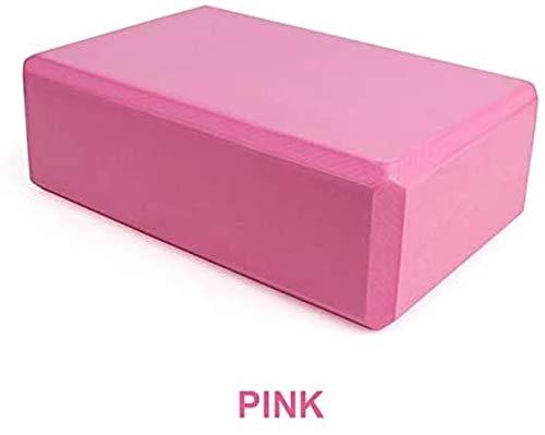 Bloque de yoga de espuma EVA bloques de espuma de ladrillo de espuma de estiramiento ayuda gimnasio pilates para ejercicios de fitness, formación de salud, yoga, meditación, superficie antideslizante para yoga, rosa