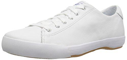 Keds Women's Lex LTT Leather Fashion Sneaker, White, 5 M US