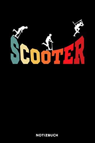Scooter: Notizbuch für Scooter Roller Fahrer | liniert | 120 Seiten | ca. A5 Format (15.24cm x 22.86 cm)