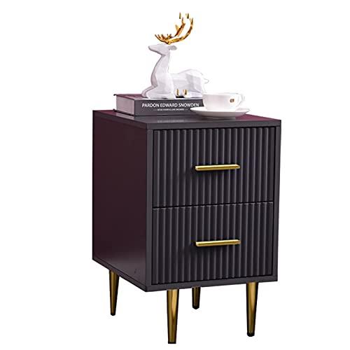 XXLYY Mesita de Noche Engrosada, gabinete pequeño y Estrecho Simple, mesita de Noche para el Dormitorio del hogar, Rojo, con Dos cajones (tamaño: 30 * 40 * 55 cm)