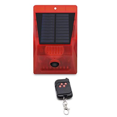 Strele Luz De Alarma De Control Remoto Solar Alarma Antirrobo De Huerto