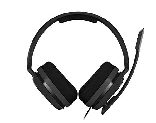 ASTRO Gaming A10 - Auriculares Gaming con Cable, Astro Audio, Peso Ligero, Resistente, 3.5 mm Audio Jack, Control Integrado en el Cable, Micrófono Volteable, PC/Mac/Xbox One/PS4, Negro/Verde
