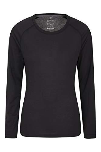Mountain Warehouse Top IsoCool Dynamic para Mujer - Camiseta cómoda para Mujer, Camiseta Ligera, Secado rápido, Camiseta Transpirable - para Viajar, Correr Negro 38