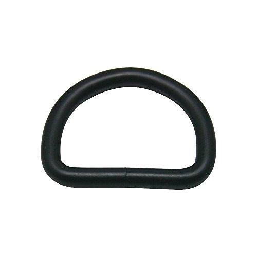 """CISONE Metal D Ring Buckle Nickel Plated 1"""" Inside Diameter Pack of 20 (Black)"""